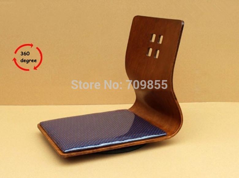(6pcs/lot) living room furniture swivel 360 degree coffee color Japanese zaisu floor chairs(China (Mainland))