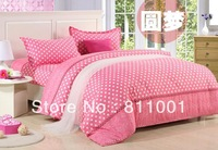 hot sale 2013 new cotton Soft velvet  printing  bedding set, 4pcs(1 bed sheet+1 duvet cover +2 pillowcases)