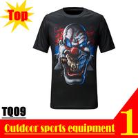 EXCELLENT! TQ09 2013 New Quick Dry 3D Men Short Sleeve Top The Clown 3D Print T-shirt Plus Size