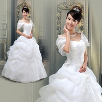 Sweet princess bandage wedding dress; 2 style + 2 color to choose