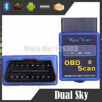 2014 newest versionVgate OBD/OBDII Connector Advance Tool ELM327 BT MINI Wireless OBD ELM 327 Bluetooth