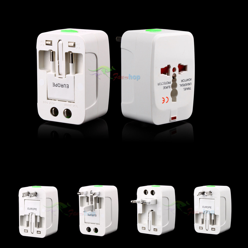 Universal World AC Power Socket Plug Adapter US EU UK extension International travel outlet(China (Mainland))