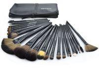 Professional 24 Makeup Brush Set Make-up Toiletry Kit Wool Brand Make Up Brush Set Case free shipping