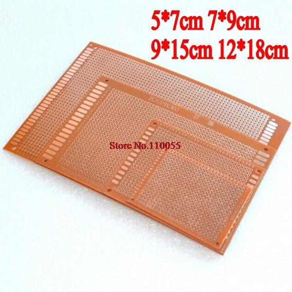 20PCS 5*7cm 7*9cm 9*15cm 12*18cm each 5pcs breadboard Printed Circuit Board Universal board Test board PCB(China (Mainland))