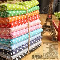 Free shipping large polka dot 12 nankeen 50 12 domestically made flat stripe handmade diy cotton cloth needlework drapery sewing