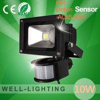 10W LED Floodlight PIR Motion Sensor Outdoor Motion Sensor Light, led sensor lights 10W 85V-265V Freeshipping!