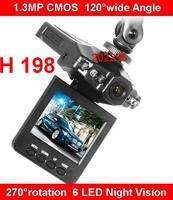 2.5'' TFT Car DVR Recorder HD720P + 1.3MP CMOS + 120 Degree View Angle + 270 degree rotation + 6 LED Night Vision DVR Car Camera