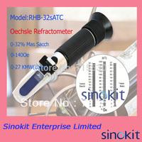 Hand Held Oechsle Refractometer RHB-32sATC Beer Brewing Refractometer with CE ceritificate (Black)
