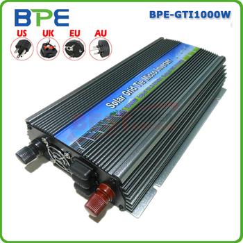HOT!! 1000 Watt 10.5~28V DC to AC90~140V Pure Sine Wave Solar Inverter GTI 1000W 1KW Grid Tie Inverter for Solar System