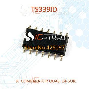 TS339ID IC COMPARATOR QUAD 14-SOIC 339 TS339 3pcs