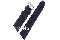22mm(Buckle20mm) New High Quality Black Smooth Waterproof Soft rubber Watch band Strap,men dive watch.speck case.adventure time