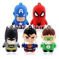 special offer superhero superheros batman spiderman superman real 2GB 4GB 8GB 16GB 32GB USB flash memory drive pen thumb drive