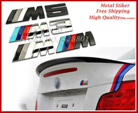 Car Tail Aluminous Metal 3D Emblem Badge Logo M sport  Sticker M3 M5 3D Metal Logo Motosport High Quality