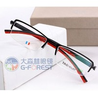 Metal optical frame superior quality Brand eyeglasses frame for men or women optic glasses frame half rim Free shipping New
