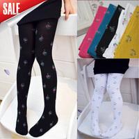 wholesale 12 pcs/lot baby girl velvet floral legging kids candy color lace leggings girl fashion autumn legging cute dress pants