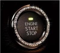 Free shipping Refires vip decoration stickers luxury dad push button start ring key diamond ring