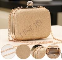 New Elegant Mini Evening Bag Clutch Women's Lady Shinning Bag Purse Wallet Golden/Blue 16711