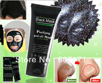 Deep Cleansing purifying peel off Black mud Facail face mask Remove blackhead facial mask 50ml,free shipping P93