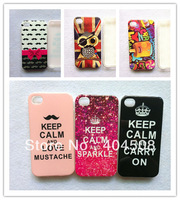 free shipping TPU IMD soft back cover shell skin for iphone 4 4s 5 5s animal owl calm phone case mobile phone case 40pcs/lot
