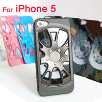 3D Wheel Style Car Tire Case for iPhone 5 5g TPU Back Cover with Branded Car Logo Low Price 2013 New Free Shipping