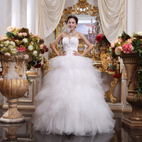 2015 HOT Wedding Dresses Formal Dress Fashion White Feather Bride Wedding Dress Romantic Fashion Bridal Gowns Drop Shipping