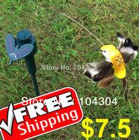 Solar Power Fluttering Flying HummingBird  bird garden Stake - Free shipping