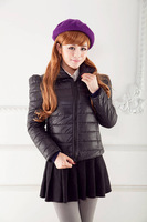 free shipping Women's plus size turtleneck short design down slim wadded jacket cotton-padded jacket thin short jacket S-XXXL