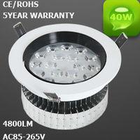 BEST QUALITY  40W LED  Recessed Downlight Lamp  85V-245V 5year warranty :NTF40