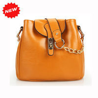 2014 New Arrival Fashion Kores Style Women Handbag Genuine Cow Leather Drawstring Casual Shoulder+Tote+Cross-body Bag! Q0307