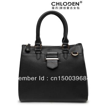Chloden Times Square  Brand Design Vintage Celebrity Tote PU Leather Women Bag Fashion Super Stars Luxury Ladies  Handbag