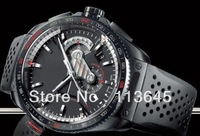 Grand  Calibre 36 RS Caliper men fashion watches black rubber machinery  -t