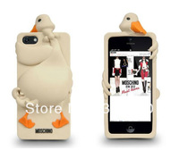 New Arrives Cute Luisa Swan Goose 3D Cute TPU Soft Silicone Back Case Cover Skin for iPhone 5 5G Wholesales