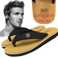 new big size summer Beckham with slippers flip flops beach slippers cool man antiskid tide shoes men's slippers sandals 45 46 47