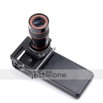 Black 8x Zoom Optical Phone Telescope Camera Lens For Universal Android Samsung HTC LG MOTO Nokia Cellphone + Holder