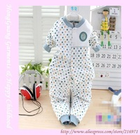 Retail+Free shipping 2013 New Hot Sale! Boutique Baby Pajamas Polka Dot Cotton Two Piece lingerie set TY1367