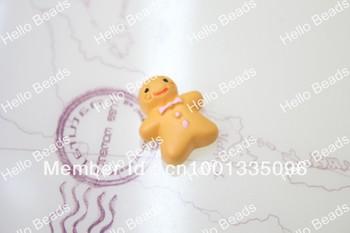 50pcs/lot Kawaii Gingerbread Man Cabochon phone case decoration