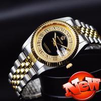 2015 watches men luxury brand quartz top quality full steel watch Casual WristWatches Wholesale Reginald Gold watch relogio