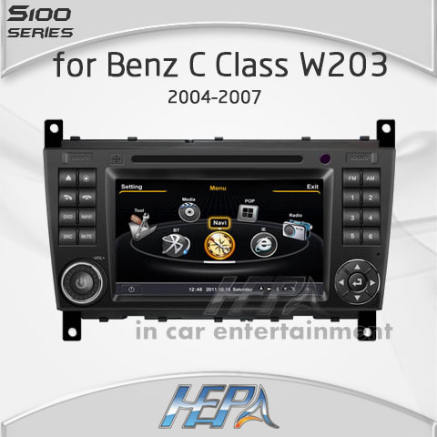 HEPA Super Fast car gps audio stereo dvd player for Mercedes Benz C Class W203 Support special DVR(China (Mainland))