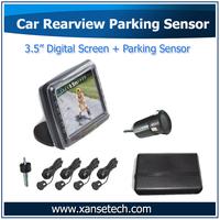 "3.5"" Reversing Parktroics Parking Assistance Sensor De Estacionamento 4 Sensores Accessories Auto"