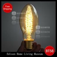 Drop Art light bulb,decorative lamp,retro E27 screw bulb,retro Edison lamp,Edison light bulb bullet,FREE SHIPPING
