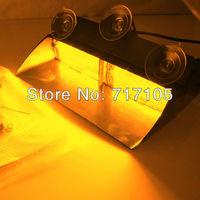 Universal Type 8/8(16 LED) Emergency Strobe Amber Light (Windshield Light) S2 Federal Signal warning LED lights
