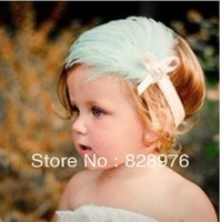 beautiful feather hair band with crystals for little princess