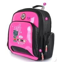 Fashion Large capacity framework cartoon waterproof nylon safety light reflective children school bag kids backpack 15*11 inches