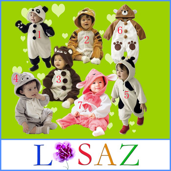 Winter Baby Rompers Infant Panda Overall Newborn One Piece Animal Coveralls Baby Clothing
