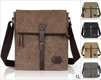 2013 new fashion canvas bag Korean version of casual men's shoulder messenger bag wholesale, free shipping