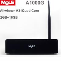Mele Branded A1000G Allwinner A31 Quad Core 8GPU 2GB/16GB  Android 4.2 Mini PC TV Box HDD Meida Player