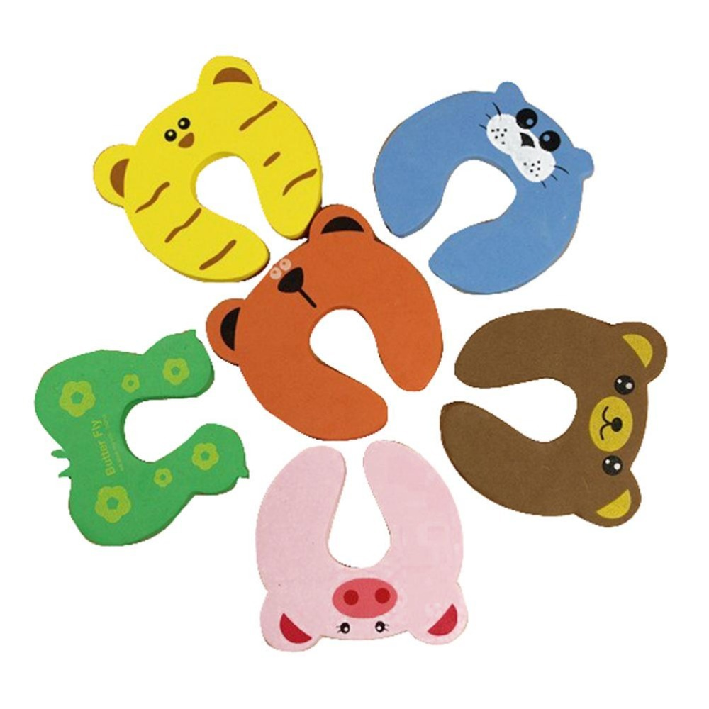 Baby Animal Cartoon 5 pcs child kids baby animal cartoon jammers stop ...