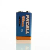 Bulk 2Pcs Prismatic  Ni-MH  9V 250mAh  Rechargeable Battery-PKCELL