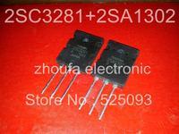 Free shipping 2SA1302 2SC3281 TO-3P in stock [ 10pcs* 2SA1302+10pcs* 2SC3281 ]