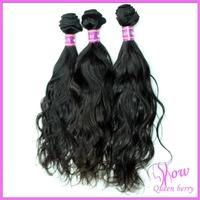 Queen berry 100% unprocessed  perfumes original virgin rainbow brazilian hair extensions 3 bundles italy weave free shipping